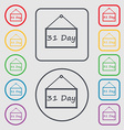 Calendar day 31 days icon sign symbol on the Round vector image vector image