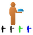 child waiter flat gradient icon vector image vector image