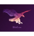 Colorful animal icon of triangles eagle vector image