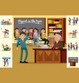 Colorful education concept vector image