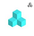 Cube isometric logo vector image vector image