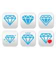 Diamond luxury buttons set vector image vector image
