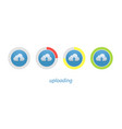 download progress indicator set upload icon and vector image vector image