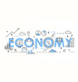 economy word colorful lettering composition vector image vector image