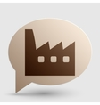 Factory sign Brown gradient icon on vector image vector image