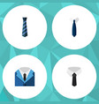 flat icon clothing set of textile cravat suit vector image vector image