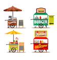 food street vendors vector image vector image