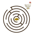 Game labyrinth find a way hen chicken vector image