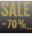 gold sale 70 percent shine salling background for vector image vector image