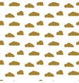 Golden clouds seamless pattern Dense sky vector image vector image