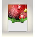Greeting template vector image vector image
