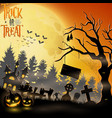 halloween party scary background vector image vector image