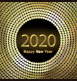 happy new year 2020 background with golden vector image vector image