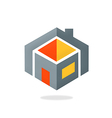 house construction geometry logo vector image