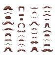 huge set mustache vector image