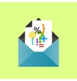 Icon open envelope with a letter eps10 vector image vector image