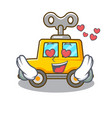 in love cartoon clockwork toy car for gift vector image