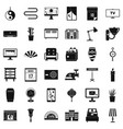 interior icons set simple style vector image vector image