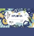 kids diploma graduate certificate modern doodle vector image vector image