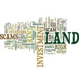 land scams invest in land with your eyes wide vector image vector image