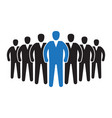 leader standing in front crowd vector image vector image
