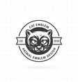 logo and label cat head vector image vector image
