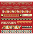 medieval border ornaments vector image