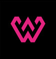 modern letter w logo vector image vector image