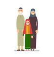 muslim family grandfather grandmother vector image