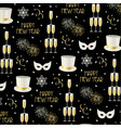 new years eve pattern vector image vector image
