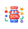 online store internet shopping concept vector image vector image