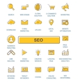 Outline web icons set - SEO vector image