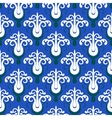 Pattern with stylized trees on blue vector image vector image