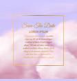 pink clouds sugar cotton cloud delicate vector image
