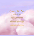 pink clouds sugar cotton pink cloud delicate vector image vector image