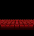 rows of red velvet seats vector image vector image