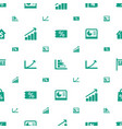 sales icons pattern seamless white background vector image vector image