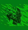 scary screaming grim demon profile vector image vector image