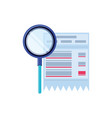 search magnifying glass with voucher vector image vector image
