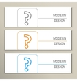 Set of 3 banners with question mark vector image