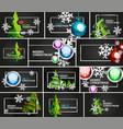 set of minimal christmas design templates vector image