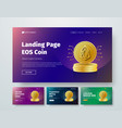 set of templates web header with gold stacks of vector image vector image