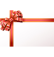 shiny red ribbon vector image vector image