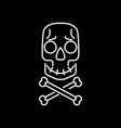 skull and crossbones cartoon face vector image vector image