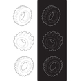 Steel gears vector image