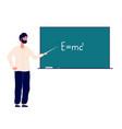 teacher professor at blackboard man teaching vector image vector image