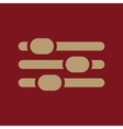 The adjustment icon Settings symbol Flat vector image