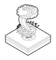 Tornado icon in outline style vector image vector image