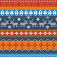 Traditional Norwegian pattern with reindeer vector image