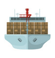 transportation of goods by sea transportation and vector image vector image